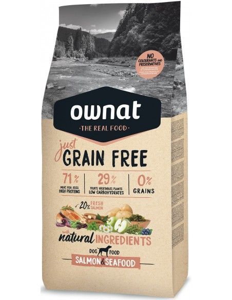 OWNAT GF JUST ADULT SALMON & SEAFOOD - SACO 3 KG