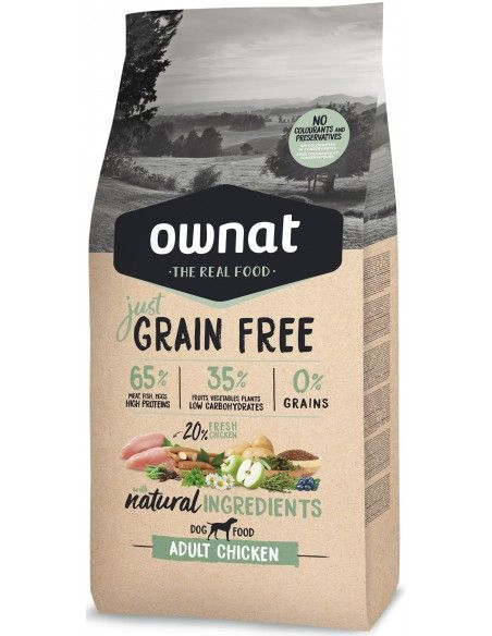 OWNAT GF JUST ADULT CHICKEN - SACO 3 KG